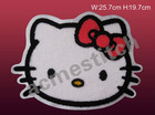 Towel embroidery on patch/iron on patch /Hellokitty /towel