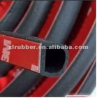 black EPDM rubber auto trim strip ( adhesive type)