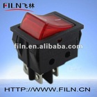 Nylon material 12V Rocker Switch 4 PIN KCD4