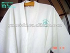 Pure white cotton waffle bathrobe/robe/nightdress