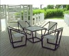 simple rattan sofas in garden rattan set