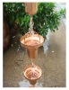 8feet copper bucket rain chain ,free gutter adaptor
