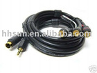 S-VideoSVHS+3.5mm Audio Video PC to TV 3RCA Cable