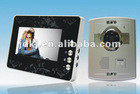 "2012 New 7"" color video door phone intercom system for villa"