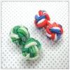 Handmade silk knot cufflinks