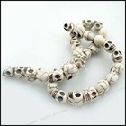 New Skull Charms gemstones howlite turquoise Loose stone Beads DIY for jewellery making 110279