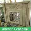 Crema Marfil Marble Fireplace