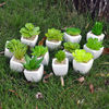 Artificial mini succulents in pot