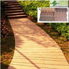 No-painting plastic wood decking