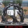 dolphin statue