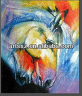 abstract horse oil paintings --colorful