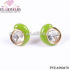 New moon big rhinestone earring jewelry-PYEA900470