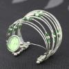 fashion elegant seed bead multistrand silver plated arc-shape quartz watch bracelets