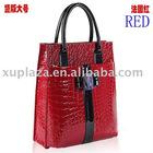 Vogue PU Leather Snake-printed Bag Red Hand Bag