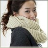 Long Double Circle Pure Color Cotton knitting Fashion Warm Neck Scarf Shawl for Women/Man