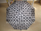 3 fold umbrella with prints