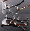 High quality and fashion rimless frame with bamboo temple