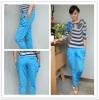 girls' drop crotch pants blue harem pants