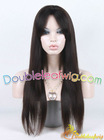 silk top glueless human hair wig with natural black color