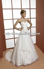 2013 Hot selling strapless lace-up back bridal wedding gown OLW1468