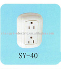 2 Pole 3 Wire Surface Receptacle Plug