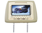 (Popular)CAR HEADREST DVD PLAYER BEIGE