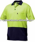 short sleeve 2 tone polycotton polo shirts