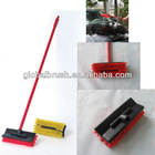 HQ0010 wholesale water through plastic car wheel brush with long metal handle