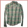 2012 Beautiful plaid shirt for man