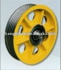 Iron tracktion wheel for elevator and escalator