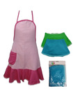 New design and silk printed logo Lace kitchen Apron