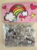 50mm silver laser star PVC glitter confetti for party
