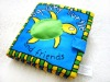 funny printed squishy turtle baby cloth book