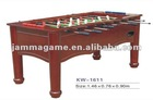 solid wood soccer table with iron pipe
