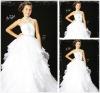 White Organza Tiered Flower Girl Dress Patterns