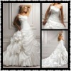 2012 New Arrival High Quality A-Line Satin Gorgeous Bridal Wedding Dresses MS-099