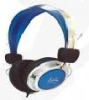 blue colour low bass stereo headphone