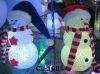 Christmas light decoration led lighted plastic snowman X-MAS snowman outdoor Decoration