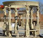 Stone gazebo stone carvings