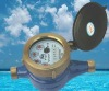 Multi-jet vane wheel wet-dial water meter