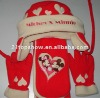 Mickey & Minnie fleece set ---- hat and gloves and scarf with embroidery