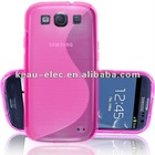 Hot Pink S-CURVE Soft Silicone Skin Cover case for Samsung Galaxy S3 i9300