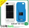 2400mAh High capacity solar charger For iphone 4