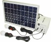 home 10W solar system , 2 LED lights,1*5V USB, 4*12V output