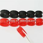 wholesale piercing body jewelry bioplast flexible black silicone ear flesh tunnel