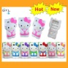 2012 newest hot cute hello kitty silicone 3d case for iphone5 case