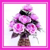 10 heads flower pure hand made artificial rose flower bouquet for wedding day