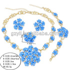 royal blue wedding jewelry set