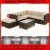 PE Outdoor rattan patio sofa set