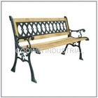 Cast iron park bench set